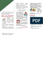 Leaflet Demam Typhoid