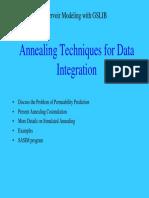 Annealing Techniques for Data Integration