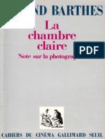 roland, barthes - [Essai 170] - La chambre claire (1980, Gallimard-Seuil).epub