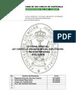 Ley Penal Especial Dto. 9-2009 Ley Contra La Violencia Sexual, Explotacion y Trata de Personas
