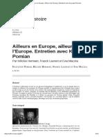 Krzysztof Pomian - Ailleurs en Europe, Ailleurs de l'Europe