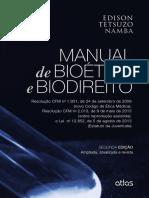 Manual de Bioética e Biodireito. Edilson Tetsuzo Nama. 2015