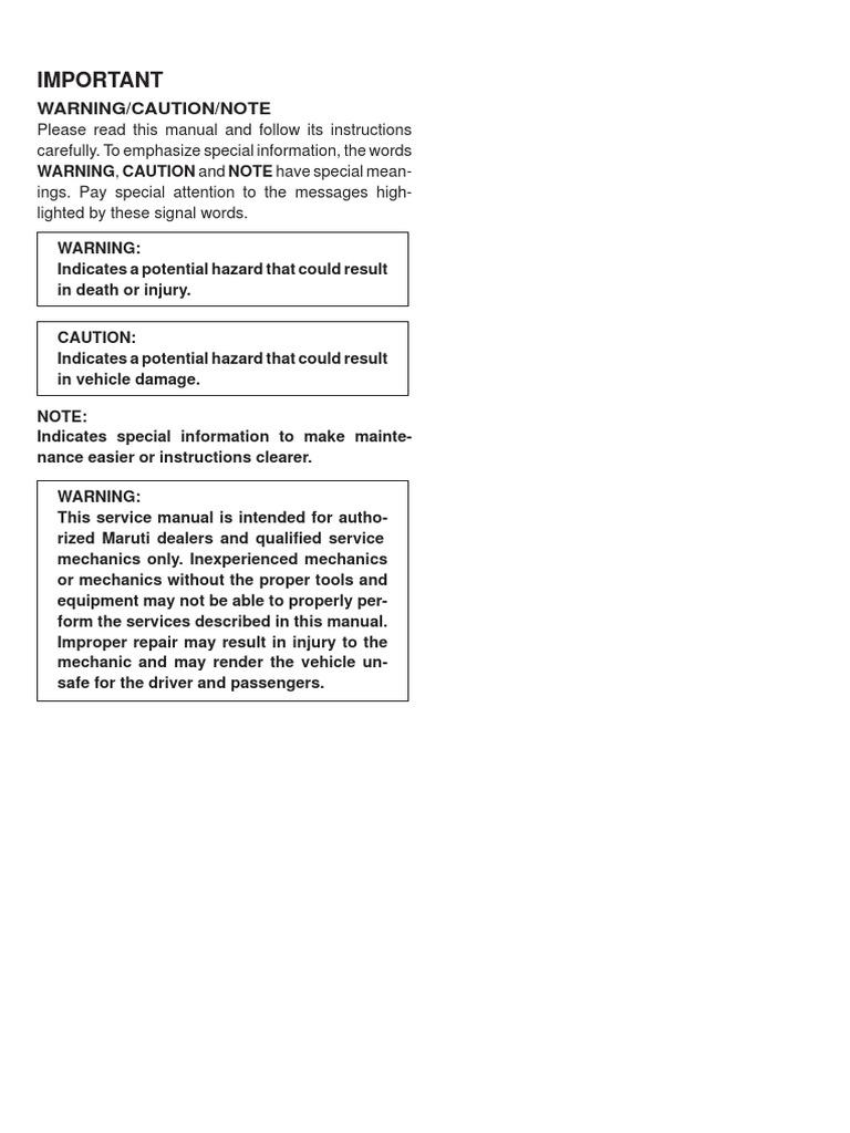 maruti suzuki f8d service manual pdf electrical connector manual rh es scribd com