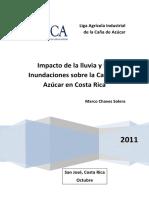 Impacto de Las Lluvias e Inundaciones Sobre La Caña de Azúcar en CR
