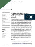 Predicting Intraday Volume