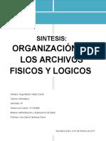 Sintesis Archivos Logicos y Fisicos