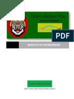 X Benefits of Sponsor