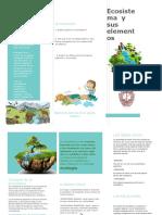 Ecosistema y Sus Elementos Triptico