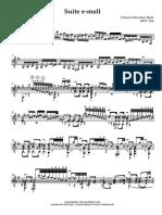 Suite BWV 996 (Bach-Scharkowski)