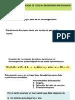 Clase 8 Transferencia de Oxígeno 2017