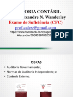 Auditoria Contábil - Exame de Suficiencia Do CFC - Bacharel - (2016) Completo - Slides
