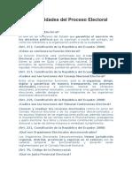 Generalidades Del Proceso Electoral