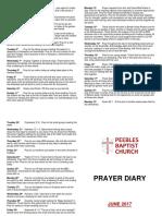 Prayer Diary June 2017