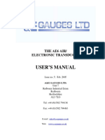 AE6 Tranducer Manual Issue 546778