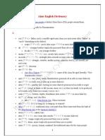 Ainu-English Dictionary