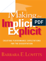 431 Making the Implicit Explicit Creating Performance Expectations for the Dissertation