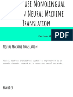 Improving Neural Machine Translation Models With Monolingual Data