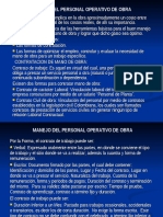 Manejo Del Personal Operativo de Obra