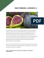Como Combatir Diabetes Con Higos