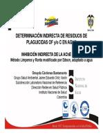 Presentacion Residuos of y C Agua - Muestra de Agua Directa