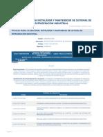 Perfil Competencia Instalador y Mantenedor de Sistemas de Refrigeracion Industrial