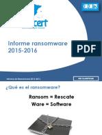 Informe Ransomware 2015-2016