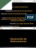 Generacion de Hidrocarburos