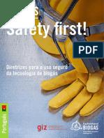 Biogas Safety First! Diretrizes Para o Uso Seguro Da Tecnologia de Biogás