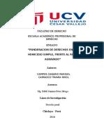 PONDERACIÓN DE DERECHOS
