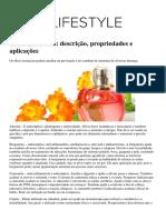 Oleos Essenciais Descricao Propriedades e Aplicacoes