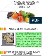 Limpieza en Areas de Un Restaurant-parrilla