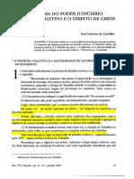 02. a Reforma Do Poder Judiciário - O Dissídio Coletivo e o Direito de Greve
