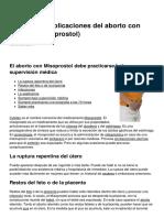 Posibles Complicaciones Del Aborto Con Cytotec Misoprostol 20096 Neidnz