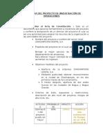 Estructura Del Proyecto de Investigacion de Operaciones 2