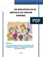 Programa Educativo - Internado Cirugia