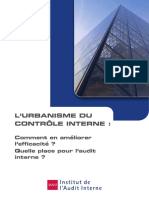 Urbanisme Du Contrôle Interne (Octobre 2008)