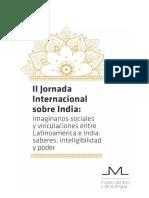 II Jornada Internacional de India