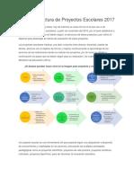 Nueva Estructura de Proyectos Escolares 2017