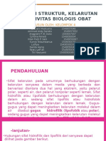 HUBUNGAN STRUKTUR, KELARUTAN DAN AKTIVITAS BIOLOGIS OBAT REVISI.pptx