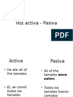Voz Activa - Pasiva
