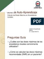 Calculo Dosis Maxima Anestesicos Locales