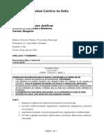 Derecho Publico Provincial y Municipal -2- 14 Hs - Ug - D