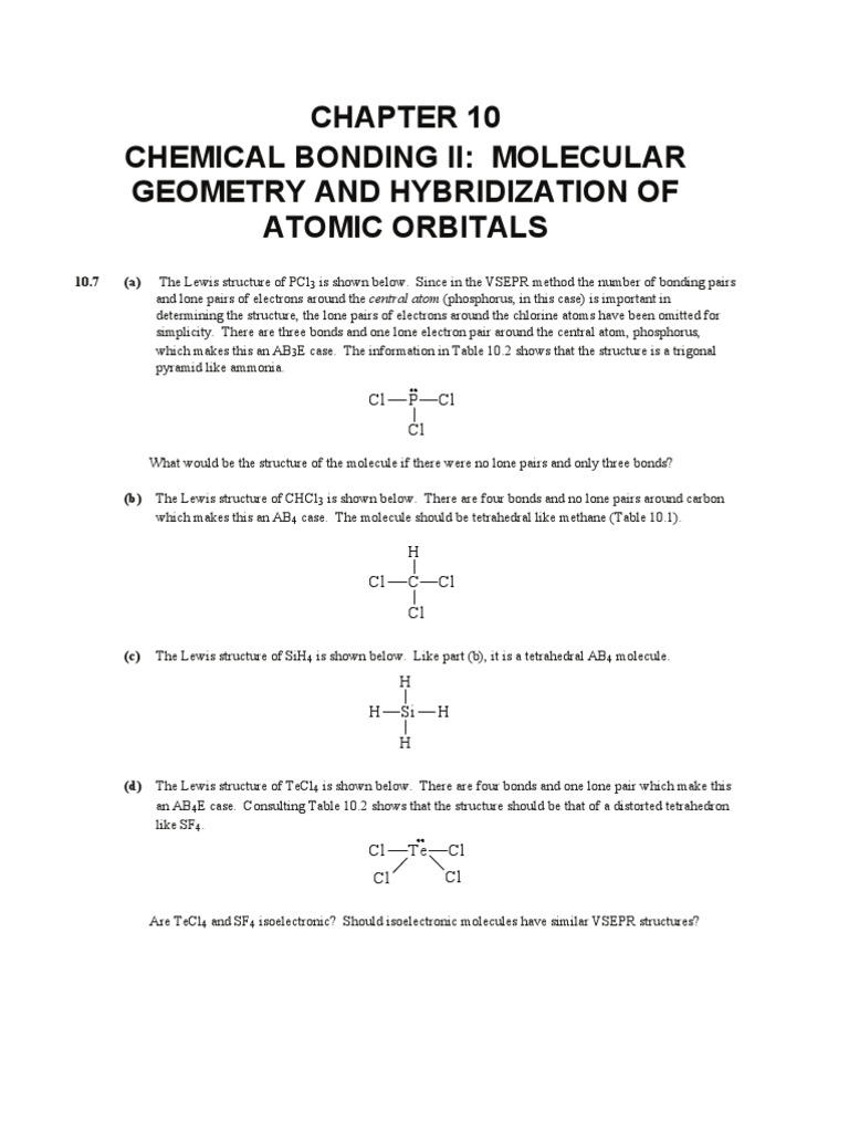 Chapter 10 2 chemical polarity chemical bond pooptronica
