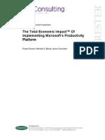 Total Economic Impact of Implementing Microsoft's Producitivity Platform