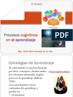 Procesos Cognitivos en El Aprendizaje