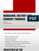 Lec # 2 Evolution of Management Thought