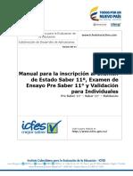 Manual Inscripcion Estudiantes Pre Saber 11 - Saber 11 - Validantes - Para Estudiantes e Individuales 2017 - V2