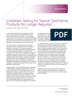 Endotoxin Testing for Topical Ophthalmic Products No Longer Required