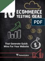 10 E-Commerce Testing Ideas