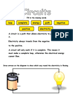 Day 1 - Circuits Missing Words Worksheet